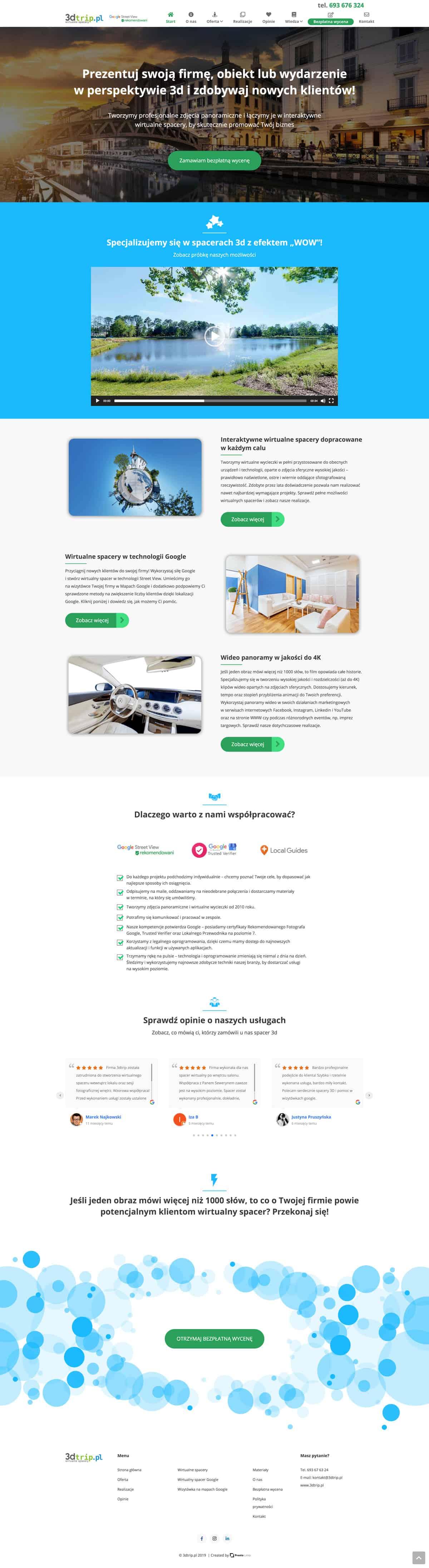 Strona internetowa 3dtrip - Prosta Linia Agencja MarketingowaŁódź