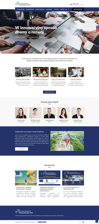 Strona internetowa - Prosta Linia Agencja Marketingowa - Stowarzyszenie Innowatorów Wsi