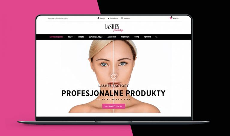 realizacja Prosta Linia - lashesfactory.pl